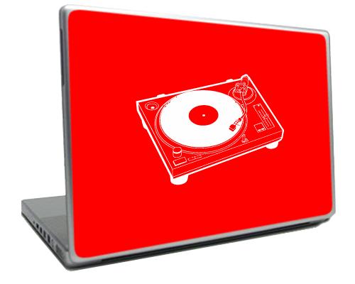 Red DJ Turntable Schticker