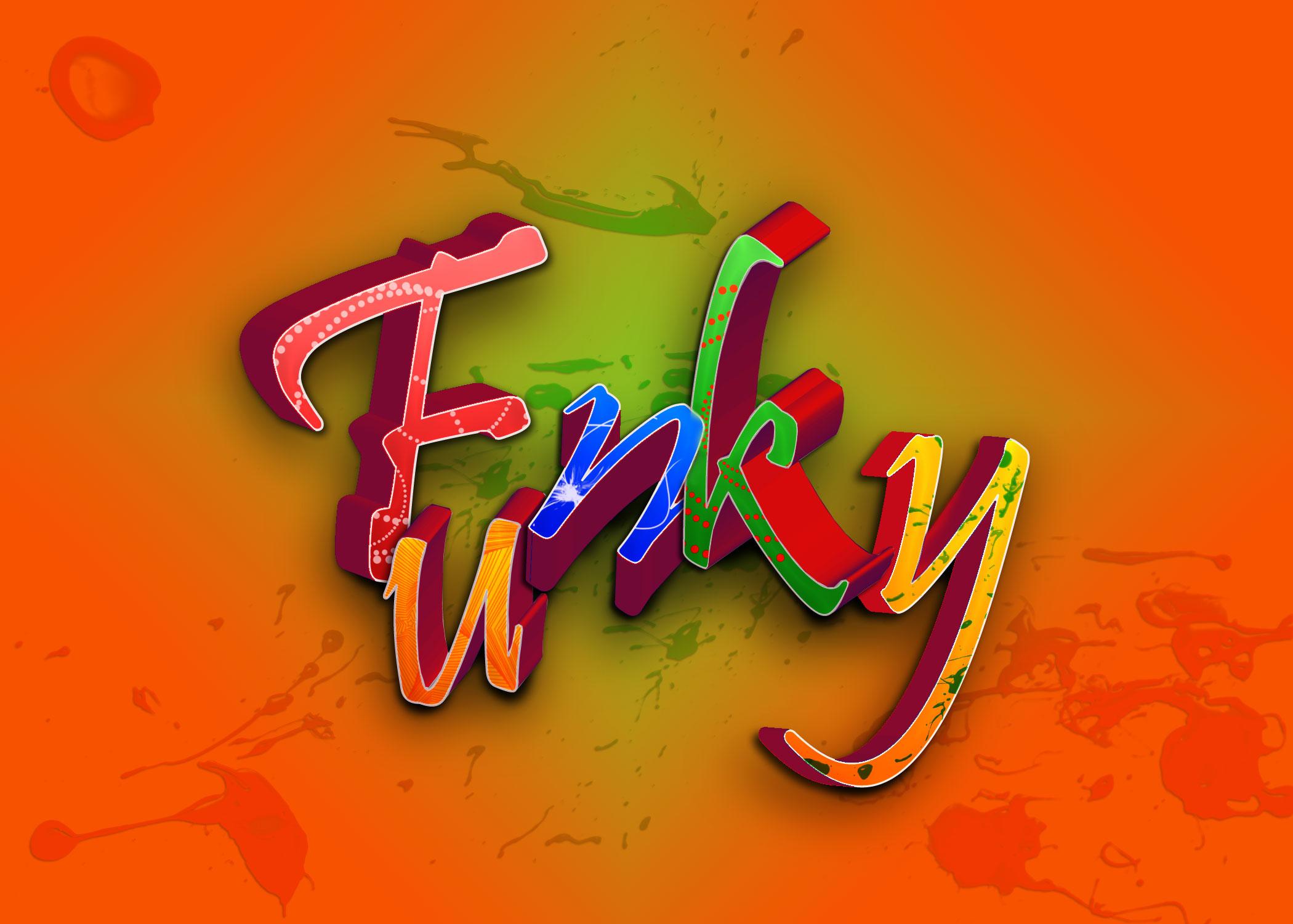 Funky Fresh 3D Typography Tutorial
