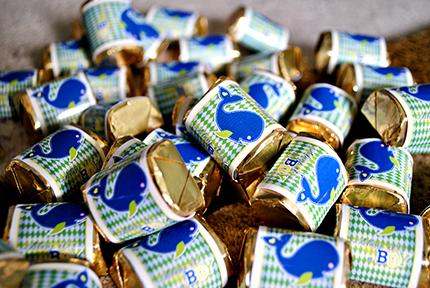 DIY Chocolate Labels - Blue Whale Ahoy It's a Boy