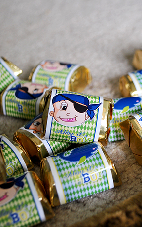 DIY Chocolate Labels Baby Pirate